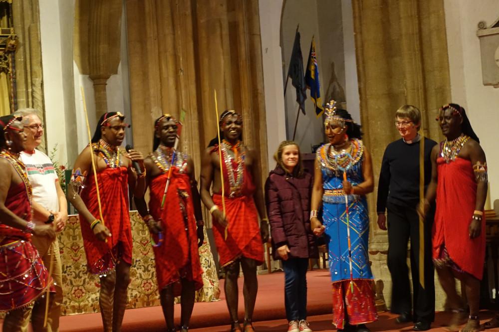 The Osiligi Maasai Warriors perform at St Nicholas Church