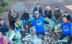 Trash collection team